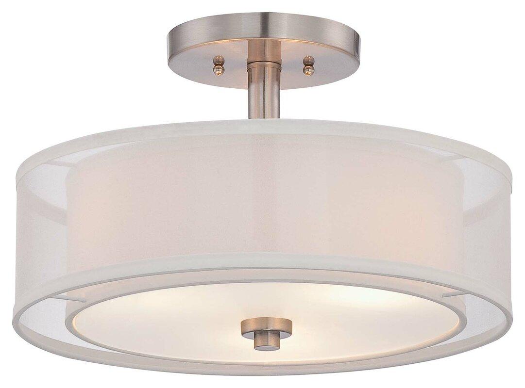 mercury row bensenville light drumcylinder semi flush mount  - defaultname
