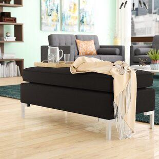 Yousif Polyester Upholstered Metal Bench