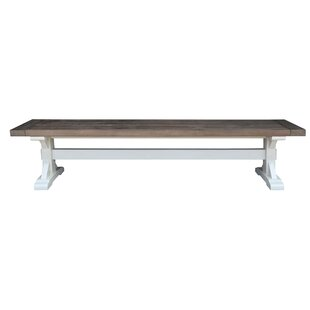 Dukes Wood Bench by Rosecliff Heights