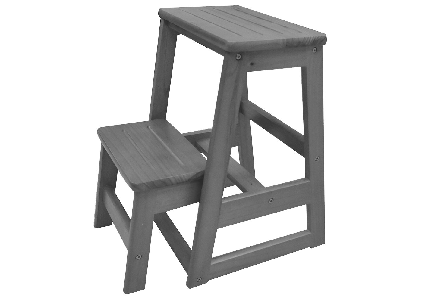 Stupendous Levi Folding 2 Step Wood Step Stool With 200 Lb Load Capacity Short Links Chair Design For Home Short Linksinfo