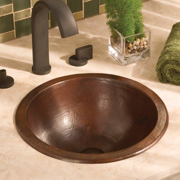 Native Trails Copper Bathroom Sinks Hand Hammered Circular Undermount Wayfair