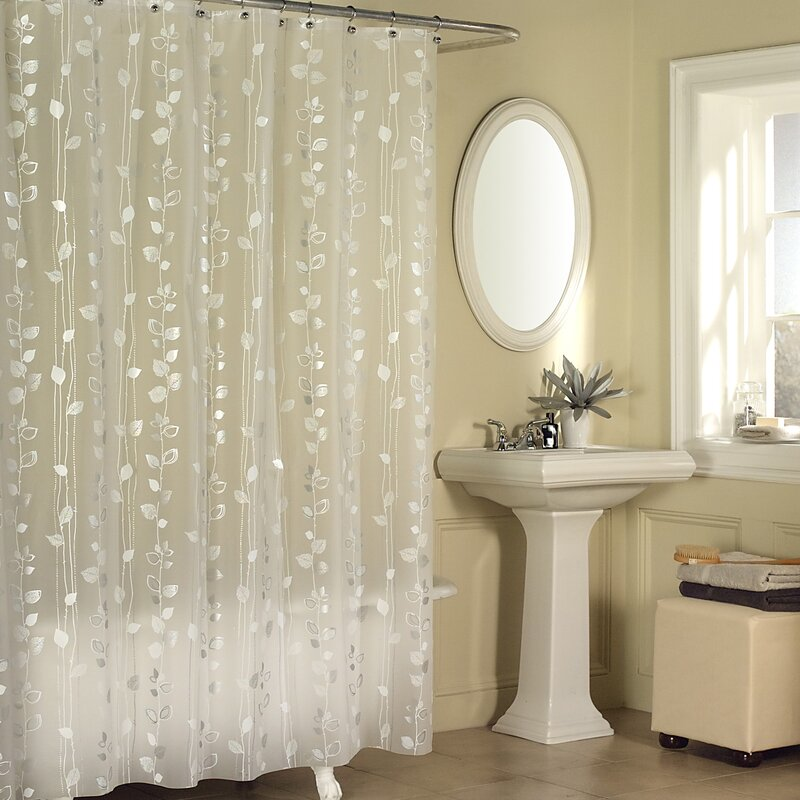 Temples Ivy Vinyl Shower Curtain & Reviews | Joss & Main