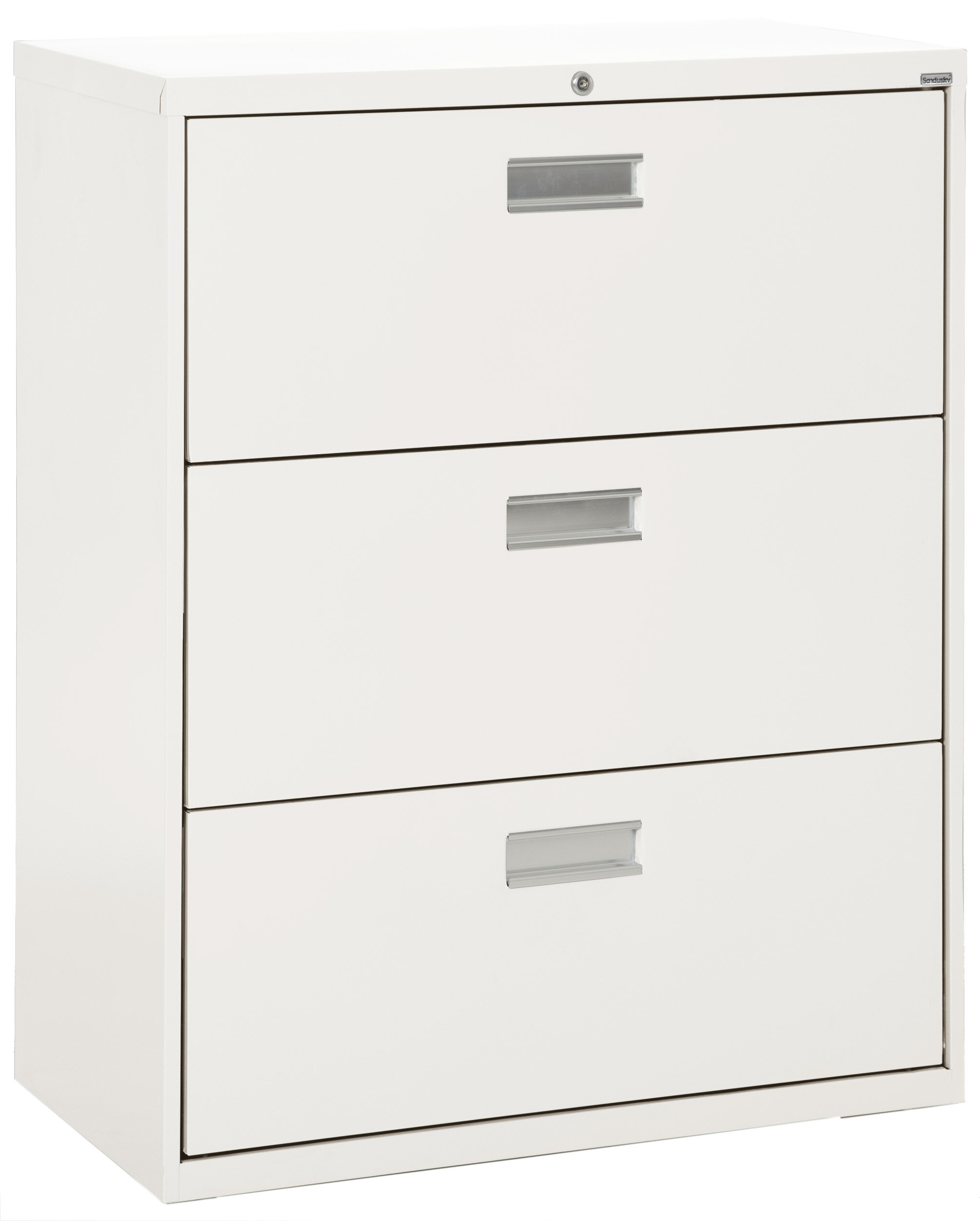 Lockable Heavy Duty Filing Cabinet 3 Drawers Black Lateral