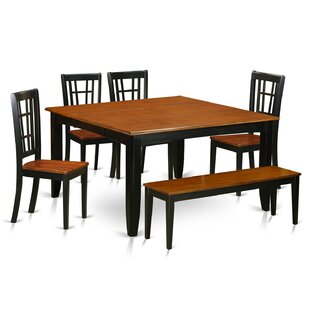 Pilning Modern 6 Piece Wood Dining Set August Grove