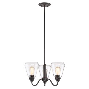 Williston Forge Coldiron 3-Light Shaded Chandelier