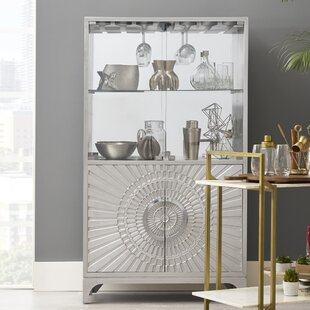 Jacquline Mirrored Home Bar Cabinet
