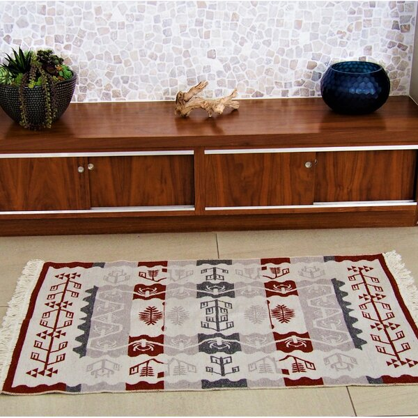 Oyoconcept Accent Double Sided Red/Beige Indoor/Outdoor Area Rug by Oyo Concept