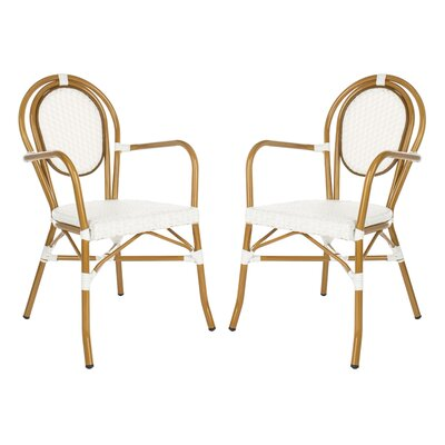 Mistana Shyanne Stacking Patio Dining Chair Color White