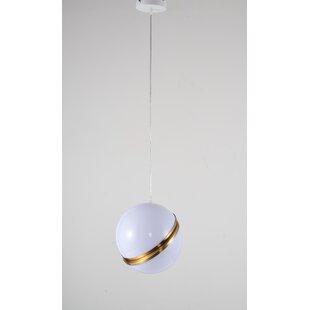 Gottschalk Single Ball ORB 1-Light Globe Pendant by Ivy Bronx