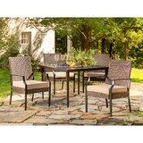 Addyson 5 Piece Sunbrella Outdoor Patio Dining Set with Cushions