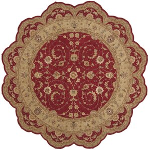 lundeen red floral area rug
