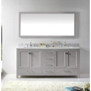 Serigne 72 Double Bathroom Vanity Set with Mirror by Willa Arlo Interiors