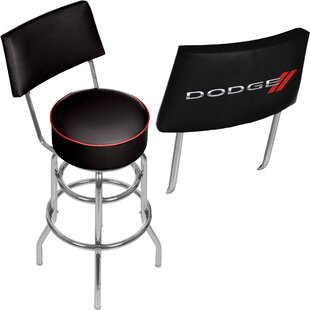 Dodge Logo 31 Swivel Bar Stool Trademark Global