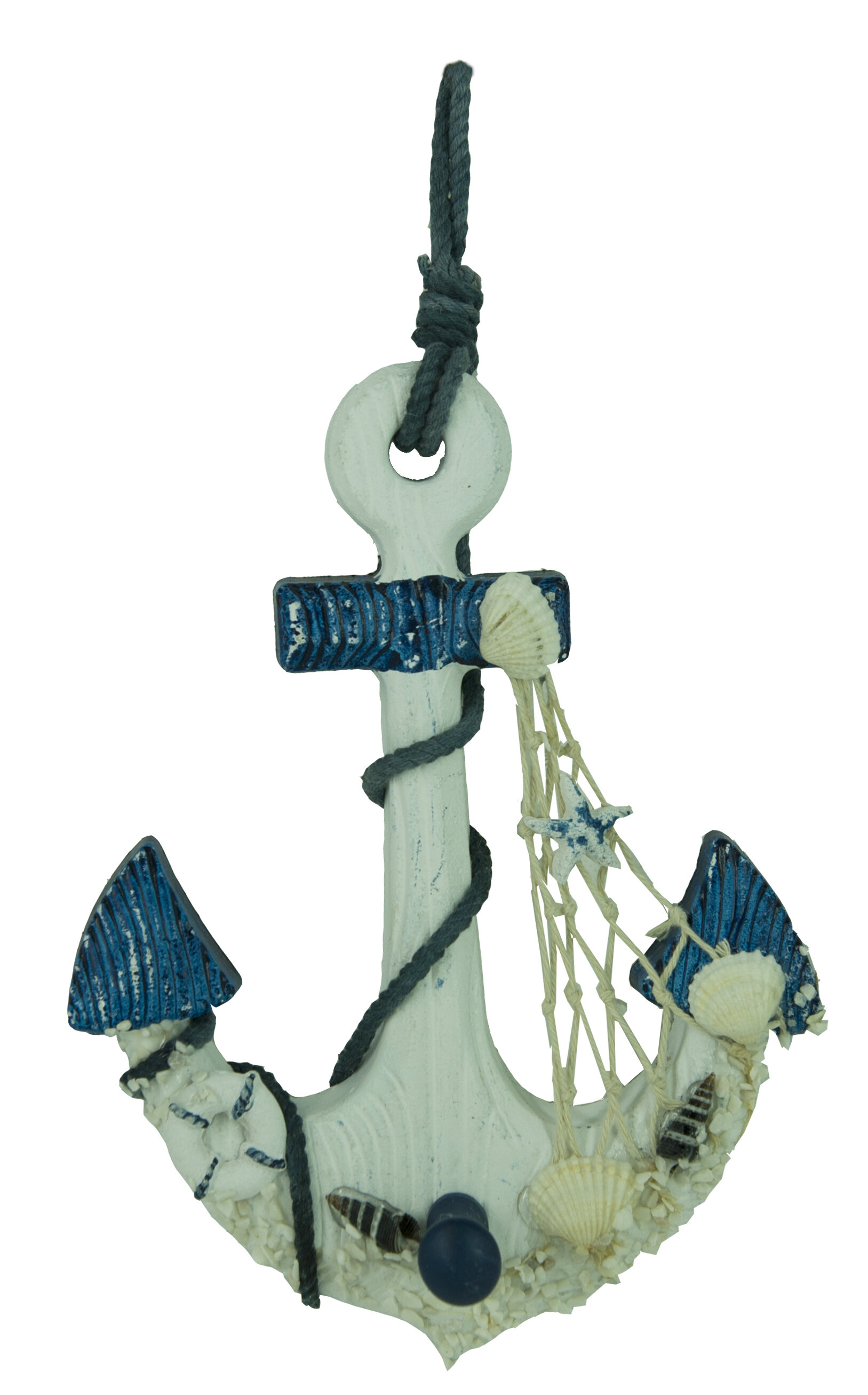 Attractiondesignhome Wooden Nautical Anchor Hanging Hook Wall Decor Wayfair
