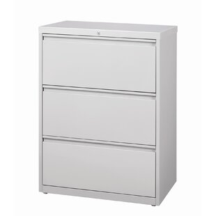 Symple Stuff Kissena 3 Drawer Lateral Filing Cabinet