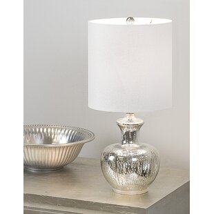 Savings Appleton Dripped Glass 18.8 Table Lamp By House of Hampton