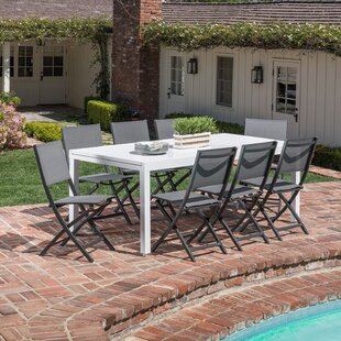 Latitude Run Walden 9 Piece Outdoor Patio Dining Set