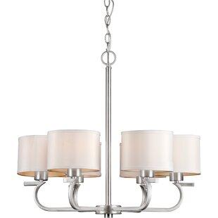 Ebern Designs Mclennan 6-Light Shaded Chandelier
