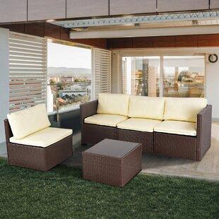 Ellerby 4 Seater Rattan Sofa Set Image