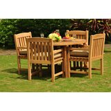 Parkhur Luxurious 5 Piece Teak Dining Set
