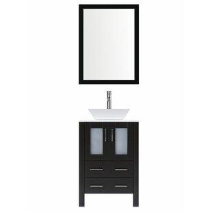 Great Price Modern 24 Single Bathroom Vanity Set with Mirror ByLessCare