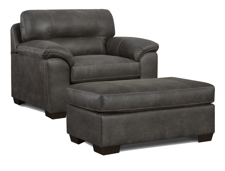 red barrel studio farlend pillow top 35 armchair with ottoman w