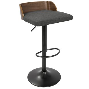 Rockaway Height Adjustable Swivel Bar Stool By Wade Logan