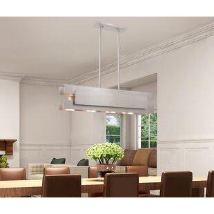 Orren Ellis Emmalynn Linear Panel 4-Light..