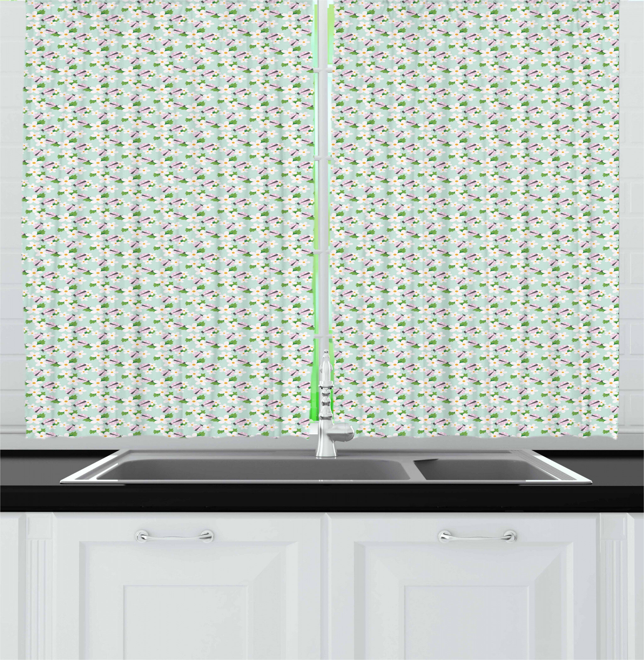East Urban Home Ladybug Kitchen Curtain Wayfair