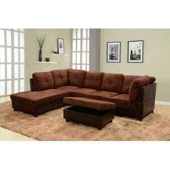 Latitude Run Abhisek 78 4 Reversible Sectional With Ottoman Wayfair