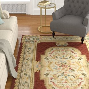 Compare prices AlladinHand-Hooked Ivory/Off-White/Blue Area Rug ByAstoria Grand