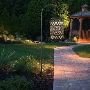Solar Outdoor Punched Metal 1-Light LED Integrated Pathway Light