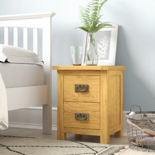 Nagle 2 Drawer Bedside Table By Alpen Home
