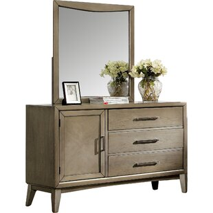 Latitude Run 3 Drawer Dresser with Mirror