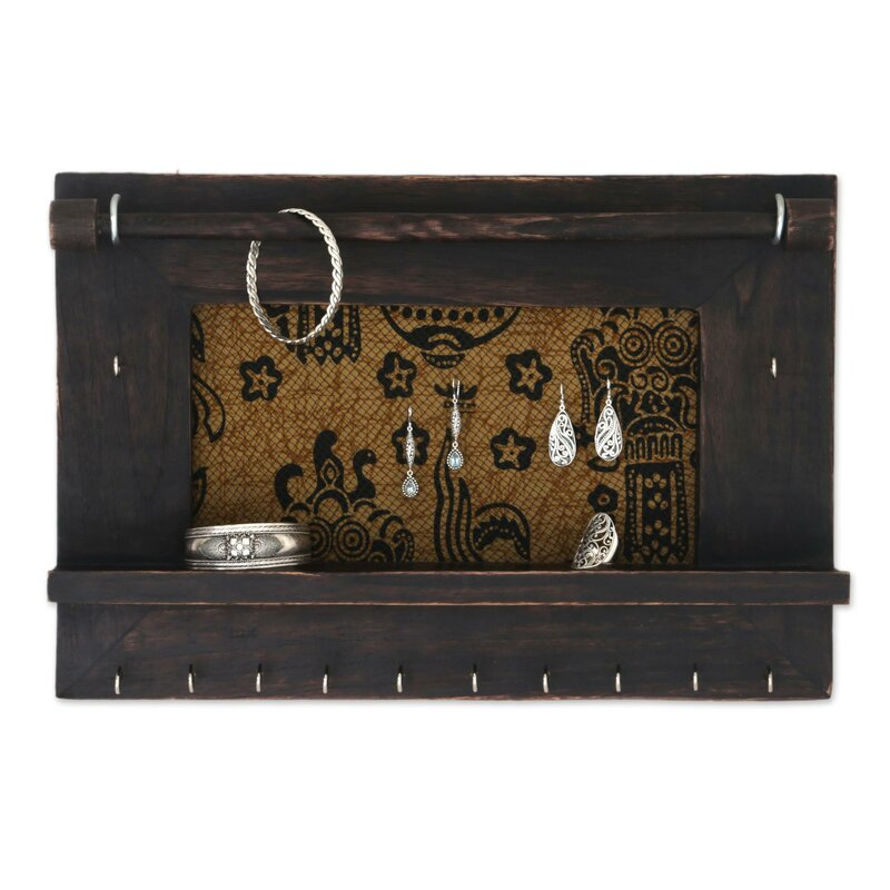 Bloomsbury Market Dark Brown Wood Wall Mounted Jewelry Box Reviews