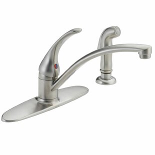 Foundations Core-B Single Handle Centerset Kitchen Faucet with Spray