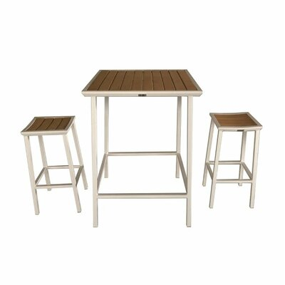 Beecher Outdoor 3 Piece Bar Set by Brayden Studio
