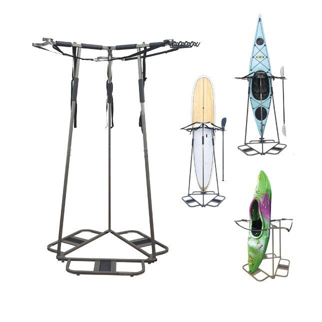 Vertical Space Saving Freestanding Kayak Rack