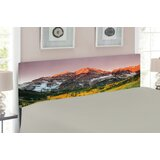Scenic Western American Mountains Upholstered Panel Headboard by East Urban Home