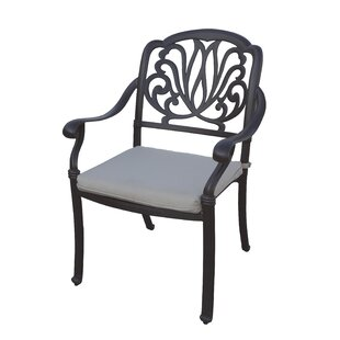 Lyndhurst Stacking Patio Dining Chair with Cushion (Set of 4)