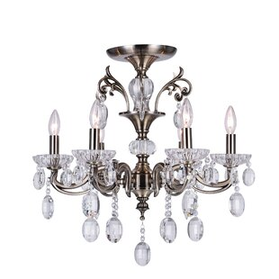 Astoria Grand Combs 6-Light Semi Flush Mount