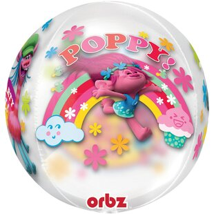 Trolls Orbz Foil Disposable Balloon