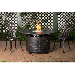 Perissa Aluminum Propane Fire Pit Table by Fire Sense No Copoun