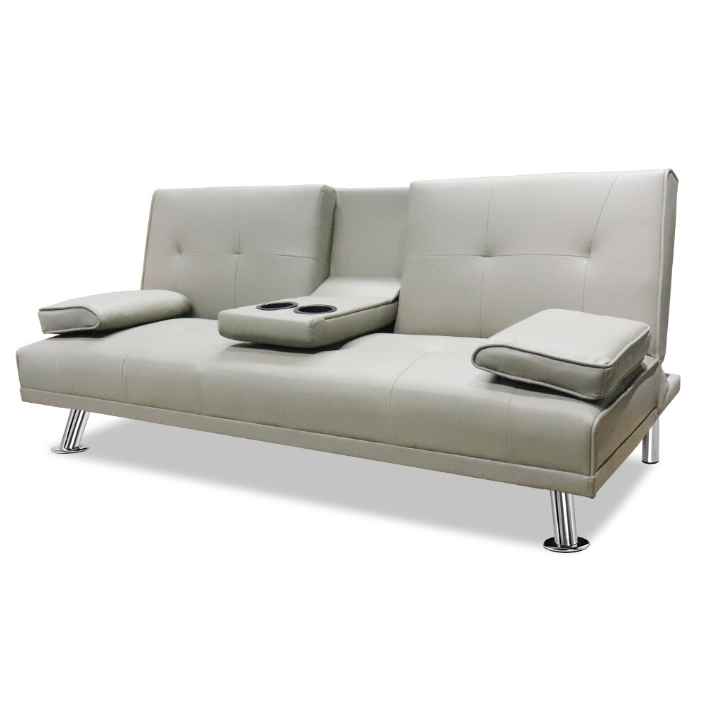 Sofa Bed Modern Faux Leather Fold Up