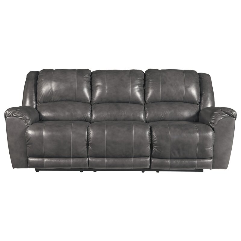 Darby Home Co Waterloo Leather Reclining Sofa Reviews Wayfair