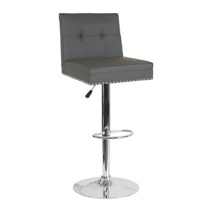 Naquin Adjustable Height Swivel Bar Stool by Wrought Studio