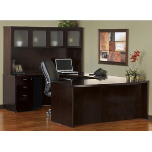 Beautiful Mira Series U Shape Executive Desk With Hutch