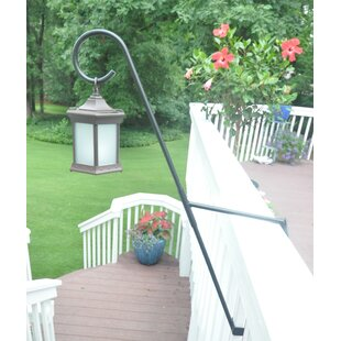 Starlite Garden and Patio Torche Co. Solar Lanter Frosted Glass with Curl Top 1 Light LED Deck Step or Rail Light