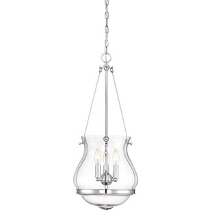 Compare Loughran 3-Light Bowl Pendant By Alcott Hill