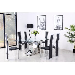 Valancia Dining Set With 8 Chairs By Metro Lane